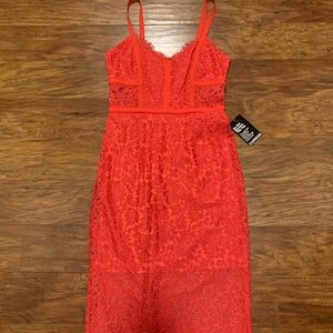 NWT Express Lace Midi Dress Size 4